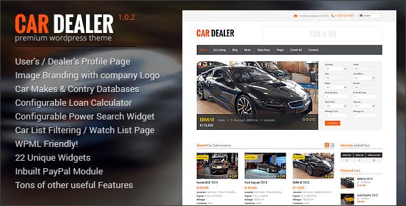 Car Dealer V   Automotive Responsive WordPress Theme