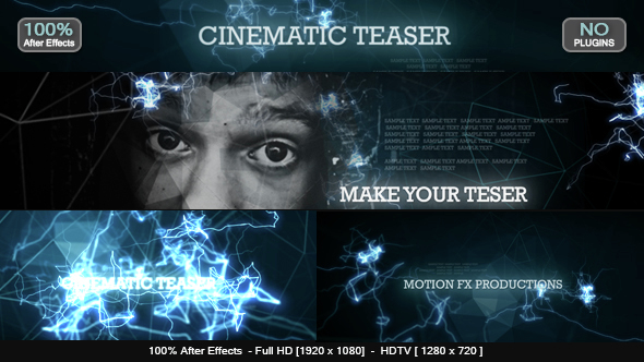 Videohive Cinematic Teaser Free After Effects Templates