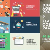 VIDEOHIVE DIGITAL AGENCY PROMOTION – FLAT DESIGN CONCEPTS – AFTER EFFECTS TEMPLATES