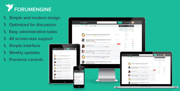 ForumEngine v1 6 3 – Flat Responsive WordPress Forum Theme Free