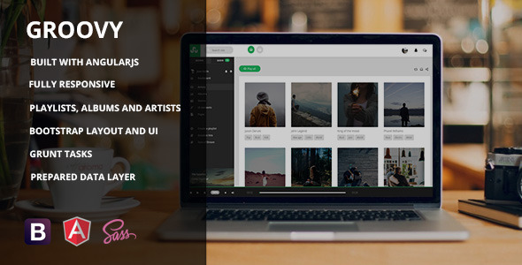 Groovy – AngularJS Music App Template Free Download - Free After ...
