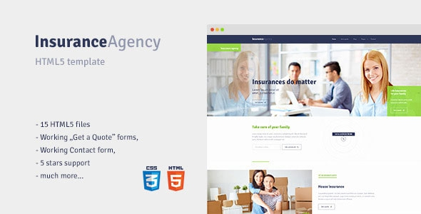 insurance html templates free download  Insurance – HTML5 template for Insurance Agency Free Download - Free ...