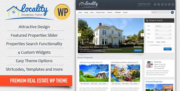 Locality v1.3.3 – Real Estate WordPress Theme Free Download - Free ...