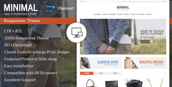 Minimal Multi Purpose Responsive Opencart Theme Free