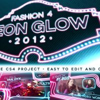 VIDEOHIVE FASHION 4 – NEON GLOW AFTER EFFECTS PROJECT FREE DOWNLOAD