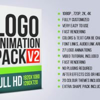 VIDEOHIVE LOGO ANIMATION PACK V2 – AFTER EFFECTS TEMPLATES