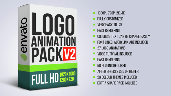 VIDEOHIVE LOGO ANIMATION PACK V2 - AFTER EFFECTS TEMPLATES - Free ...