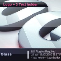 VIDEOHIVE SILVER GLASS LOGO – AFTER EFFECTS TEMPLATES