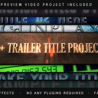 VIDEOHIVE TRAILER TITLES PACK – AFTER EFFECTS TEMPLATES