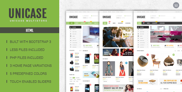 Unicase Electronics ECommerce HTML Template Free Download