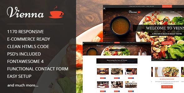 vienna v1 4 responsive restaurant template free download free