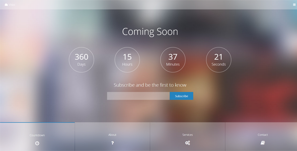Visio V1 2 Responsive Coming Soon Template Free