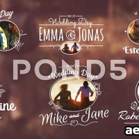 WEDDING TITLES – AFTER EFFECTS TEMPLATE (POND5)