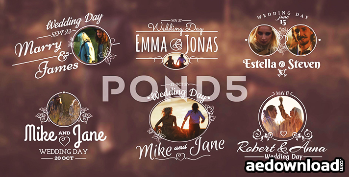 WEDDING TITLES - AFTER EFFECTS TEMPLATE (POND5)