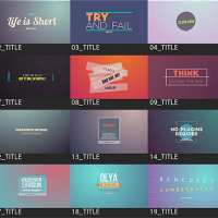 VIDEOHIVE MOTION TITLES PACK – AFTER EFFECTS TEMPLATES