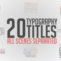 VIDEOHIVE UNIQUE TYPOGRAPHY FREE – AFTER EFFECTS PROJECT