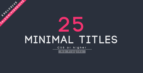 VIDEOHIVE 25 MINIMAL TITLES 12812169 - AFTER EFFECTS TEMPLATES ...