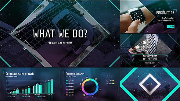 Videohide business of the future modern corporate for After effects lyric video template
