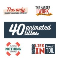 VIDEOHIVE 40 ANIMATED TITLES FREE AFTER EFFECTS TEMPLATE