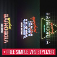 VIDEOHIVE 5 VHS TITLE OPENER PACK FREE DOWNLOAD