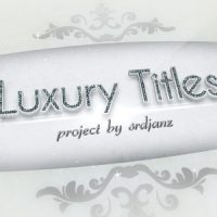 LUXURY TITLES PACK – AFTER EFFECTS PROJECT (VIDEOHIVE)