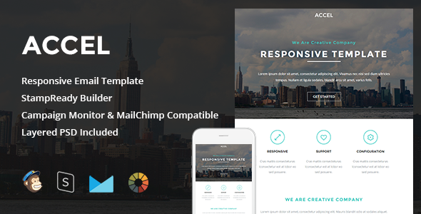 Accel 1.0 – Responsive Email + StampReady Builder Free Download ...
