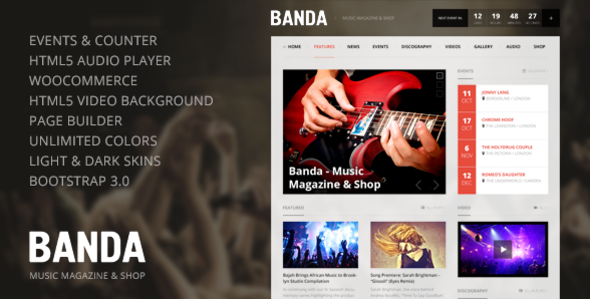 Banda v1 2 4 – WordPress Music Magazine Free Download - Free After