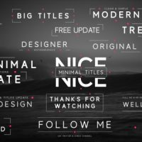 VIDEOHIVE BIG MINIMAL TITLES – AFTER EFFECTS TEMPLATES