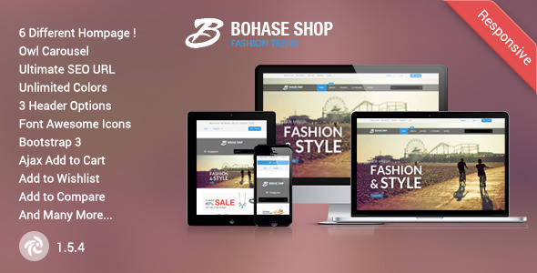 Bohase Responsive Zen Cart Theme Free Download