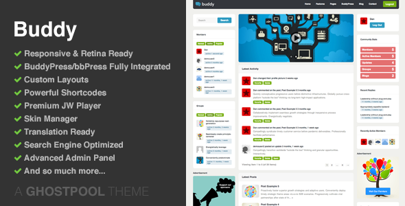 Buddy v1.22 – Multi-purpose WordPress & BuddyPress Theme Free ...