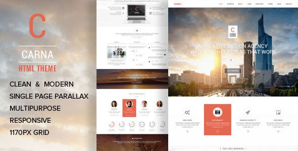 Carna V1 2 One Page Multi Purpose Parallax Html Template Free