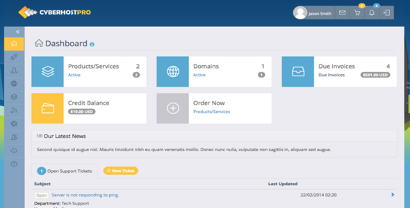 Nulled hosting templates