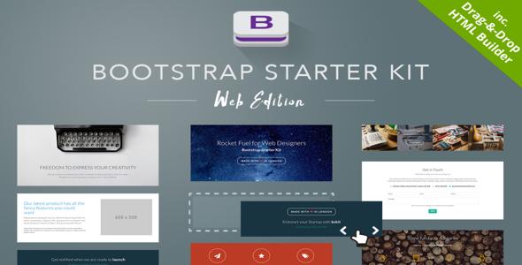 bootstrap starter kit v1 5 web edition creativemarket free download free after effects. Black Bedroom Furniture Sets. Home Design Ideas
