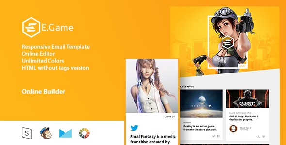 e game responsive email template online editor free download