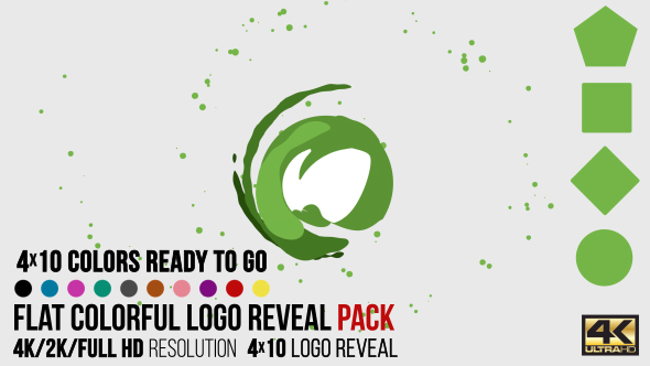 Flat Colorful Logo Reveal Pack