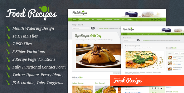 Food recipes food website and blog template free download free food recipes food website and blog template free download forumfinder Gallery