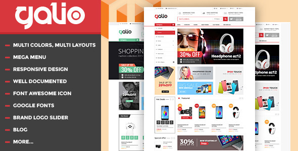 Galio – Mega Shop Responsive HTML Template Free Download