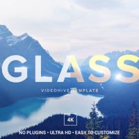 VIDEOHIVE GLASS LOGO OPENER – AFTER EFFECTS TEMPLATES