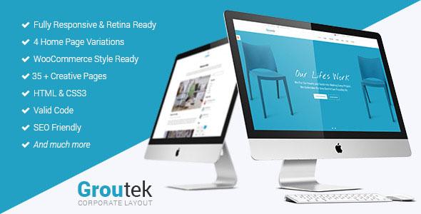 Groutek – Creative Multipurpose Website Template Free Download ...