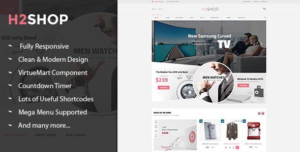 H2shop v1 1 0 – Responsive Multipurpose VirtueMart Theme