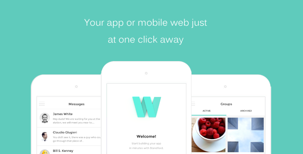Washington – HTML Front-end Mobile App/Web Template Free Download ...