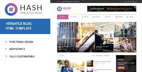 Hash News Magazine Html Template Free