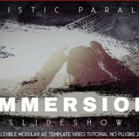 VIDEOHIVE IMMERSION ARTISTIC PARALLAX SLIDESHOW – AFTER EFFECTS TEMPLATES