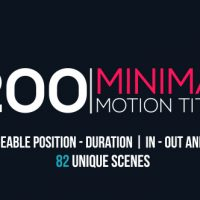 VIDEOHIVE MINIMAL MOTION TITLES PACK FREE AFTER EFFECTS TEMPLATE