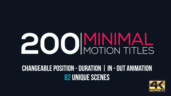 Minimal Motion Titles Pack