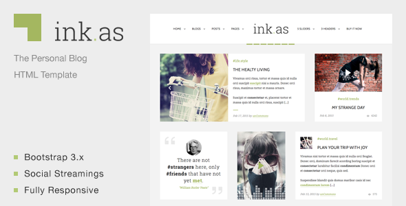 Inkas The Personal Blog Html Template Free Download Free After