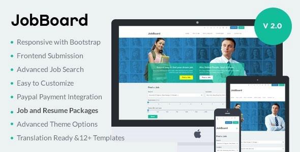 JobBoard v203 Responsive Job Resume Market WordPress Theme