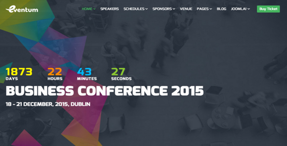 Eventum V1 2 Responsive Event Conference Joomla Template Joomshaper Free