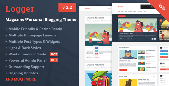 Logger V2 4 Magazine Personal Blogging Theme Free Download Free