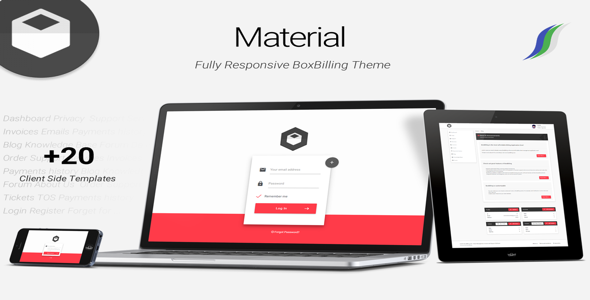 Material Premium Boxbilling Theme Html Free Download Free After